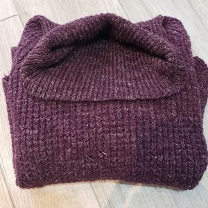 Free People purple chunky turtleneck sweater